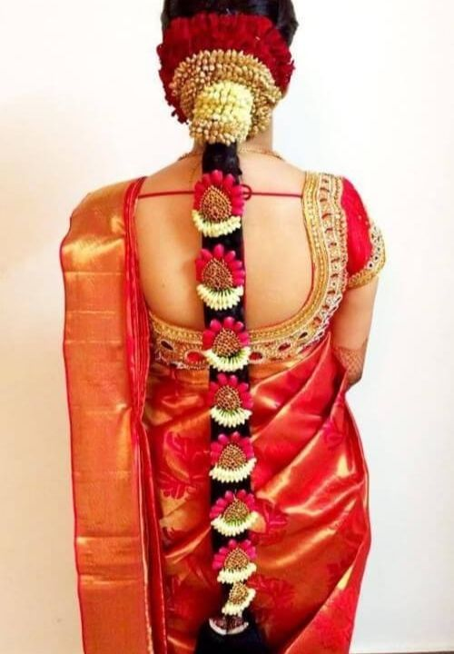 Traditional bridal hair style