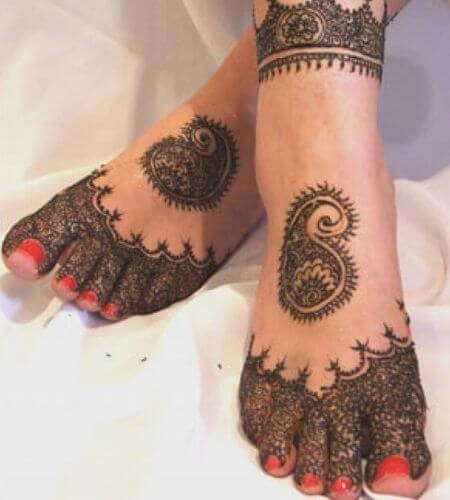 Foot Marwari Mehndi Designs