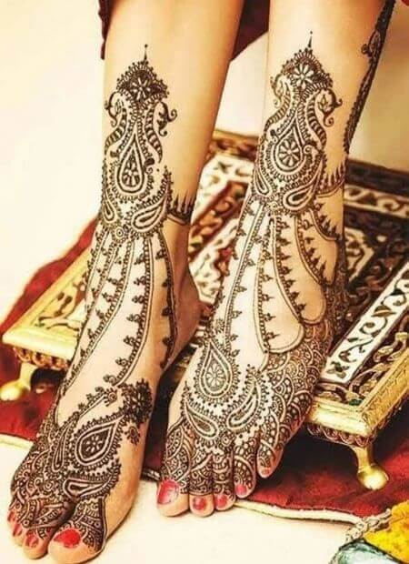 marwari mehndi for Foot