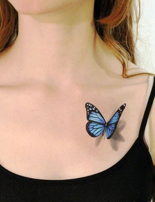 3d Realstic Butterfly Tattoo