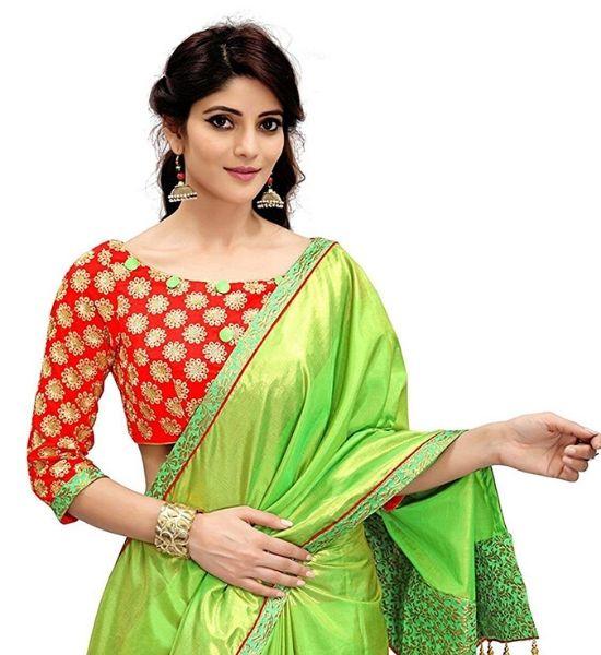 Blouse Design for Parrot Green