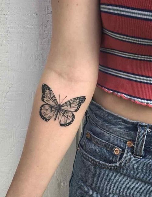 Butterfly on arm