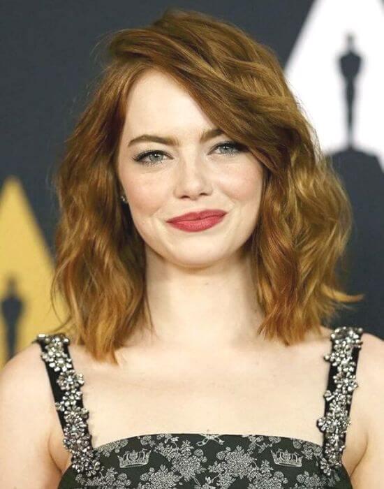 Emma Stone Shoulder Length Hair Style