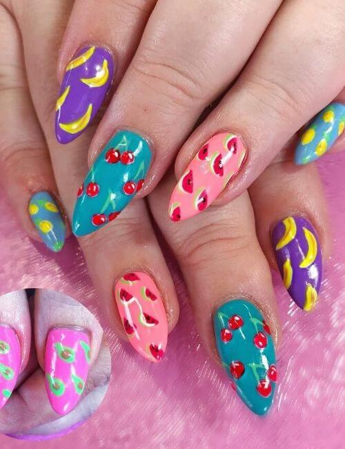 Fruit Salad nail arts