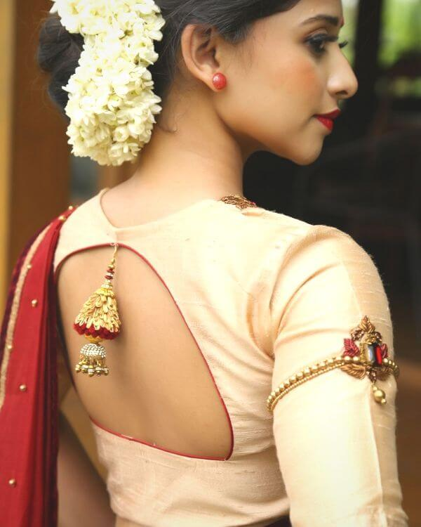 Stylish Back Neck Blouse Design