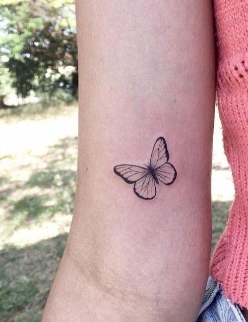 butterfly tatoo on hand