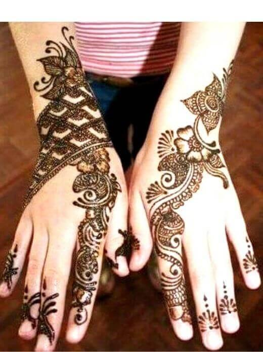 Flower Style Henna mehndi for EID