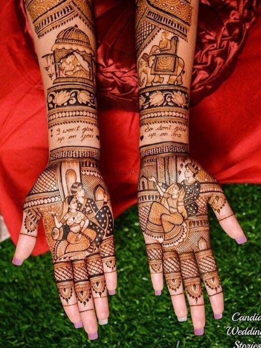 Suyambaram Mehndi Design in full hands