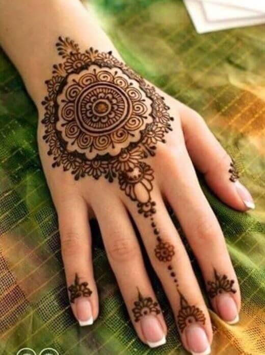 chain mehndi for EID