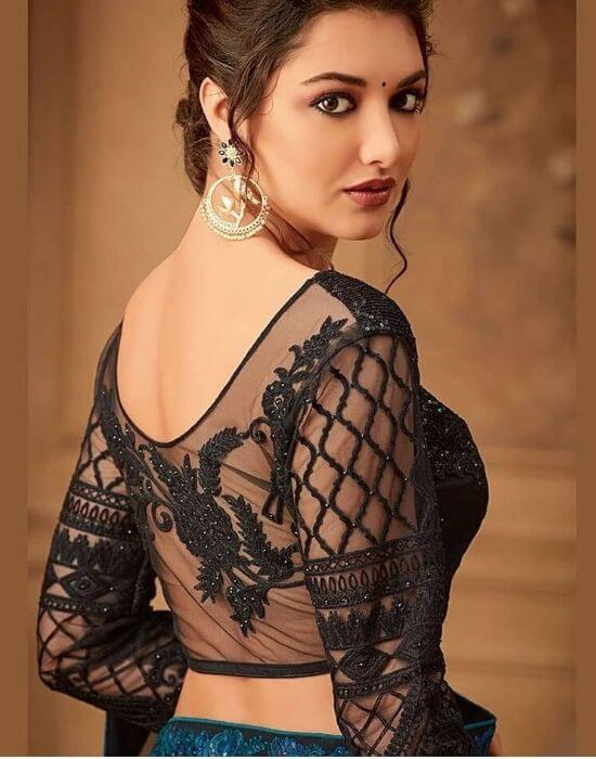Dashing Black Georgette Designer Saree