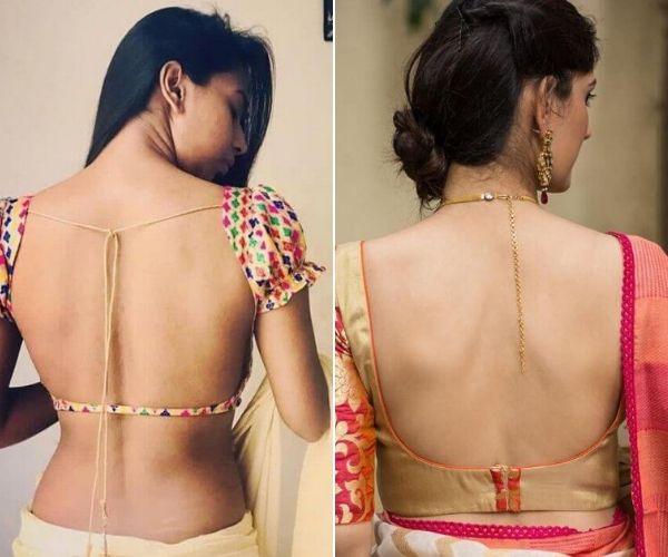 Fashionable Backless Blouse Design