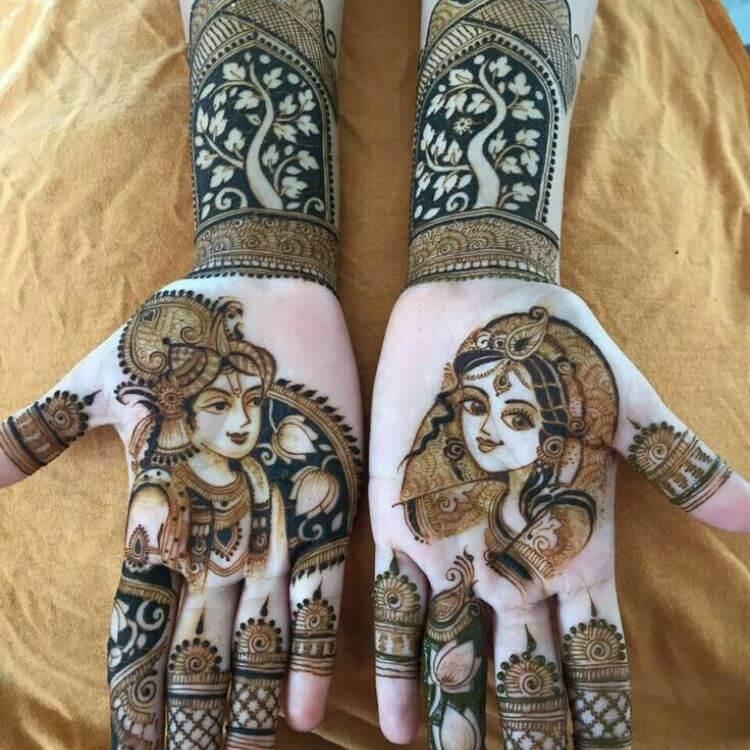 Radha&Krishna mehndi Designs