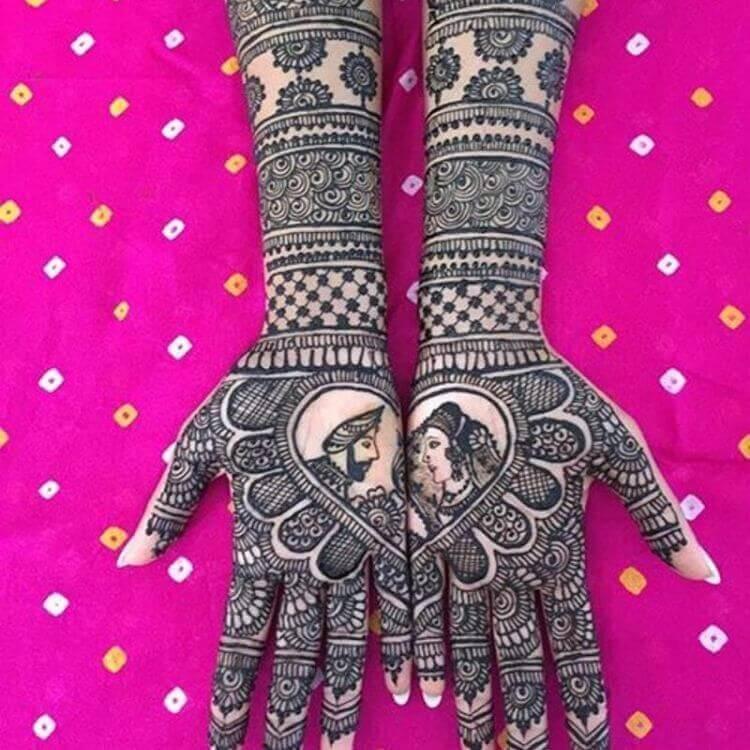 Raja Rani style Mehndi