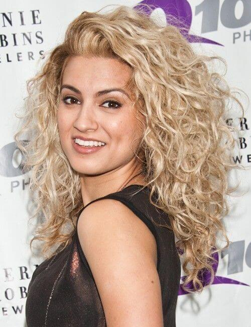 Tori Curly Golden Blonde Curly Hairstyle