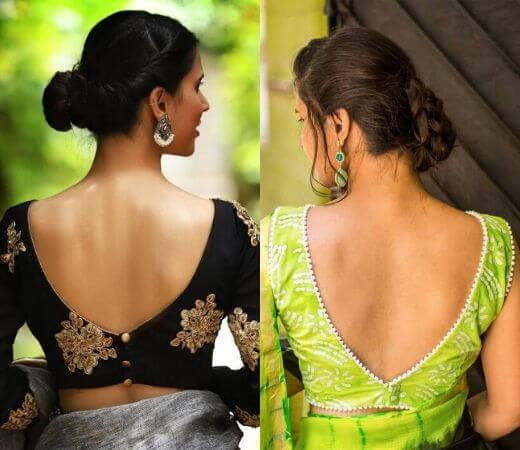 V-shaped Blouse Backless Designs