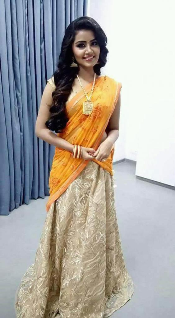 Anupama In half Saree