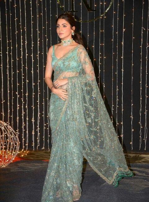 Anushka Sharma in net saree