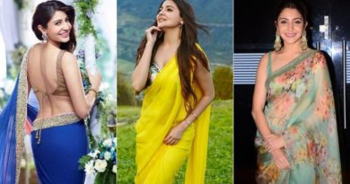 Bollywood Actress Anushka Sharma Gorgeous Look in Saree