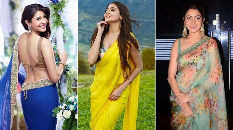 Bollywood Actress Anushka Sharma Gorgeous Look in Saree