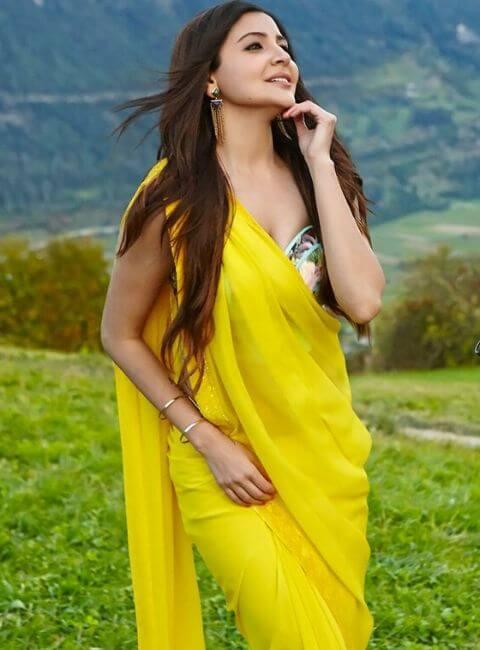 Anushka Sharma yellow saree