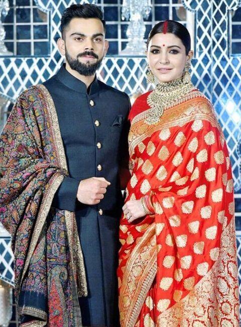 Anushka Wedding Saree Photo