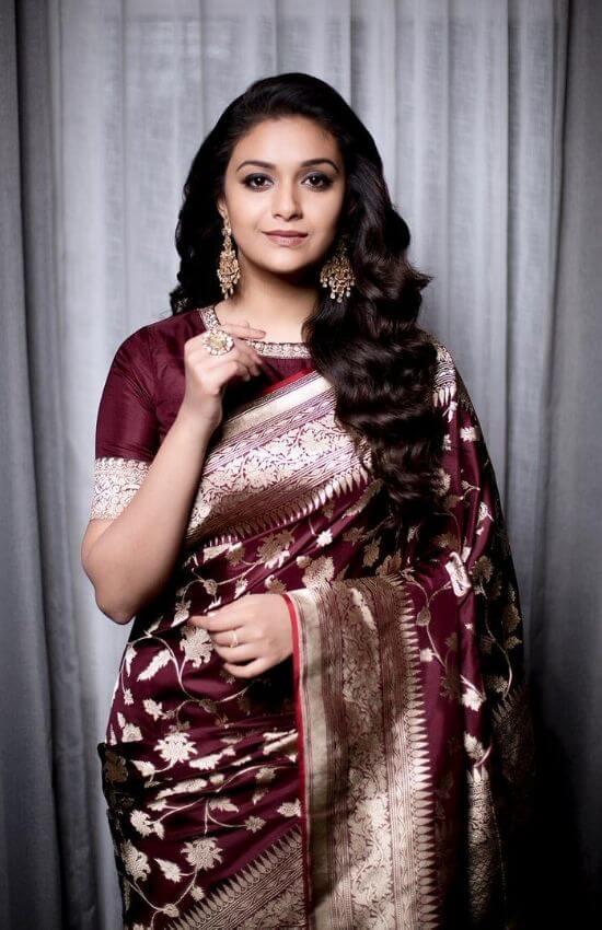 Keerthi Suresh in banarasi saree
