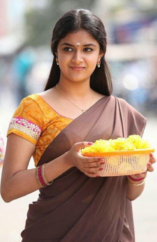 Keerthi suresh in half saree