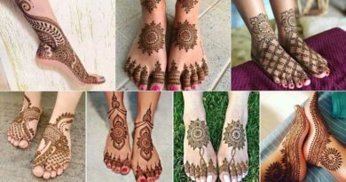 Mehndi Desings on feet