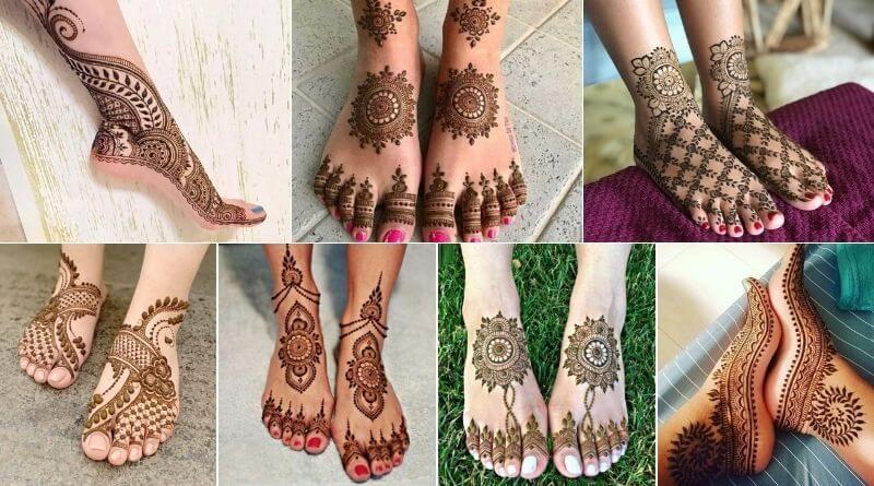 Mehndi Desings on feet