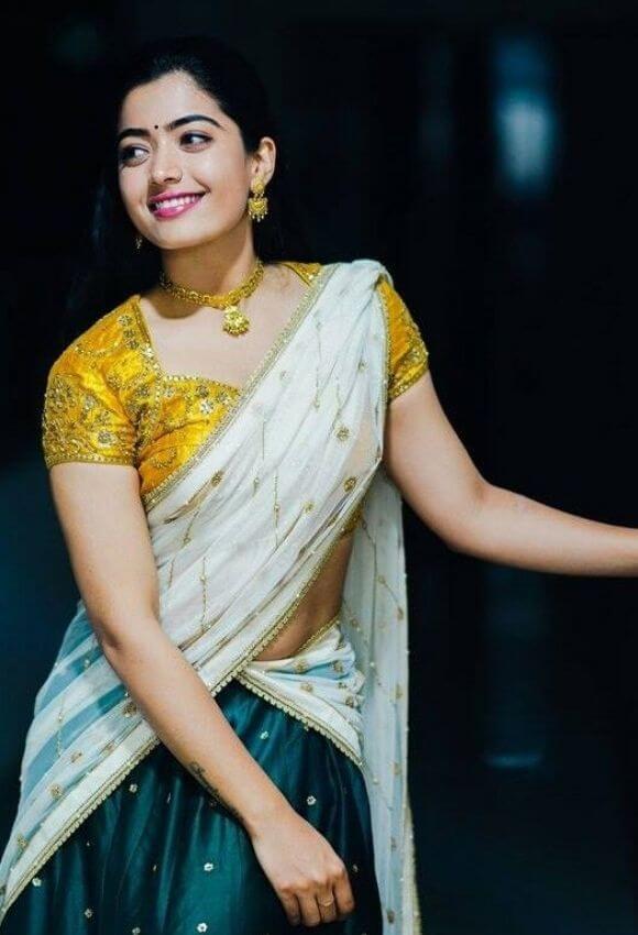 Rashmika Mandanna in half saree