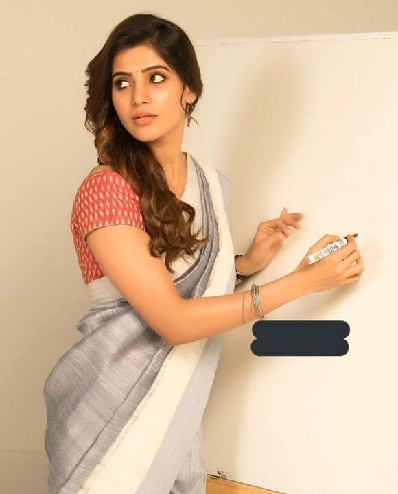 Samantha in Plain saree