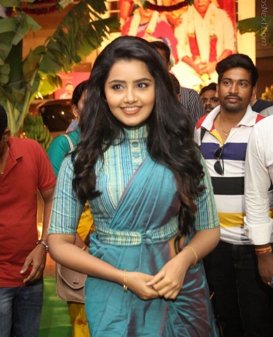 anupama parameswaran with full blouse design