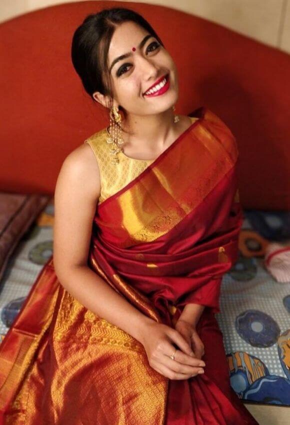 rashmika mandannas saree looks et some major