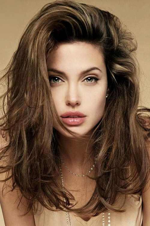 Angelina Jolie Messy sholuder length