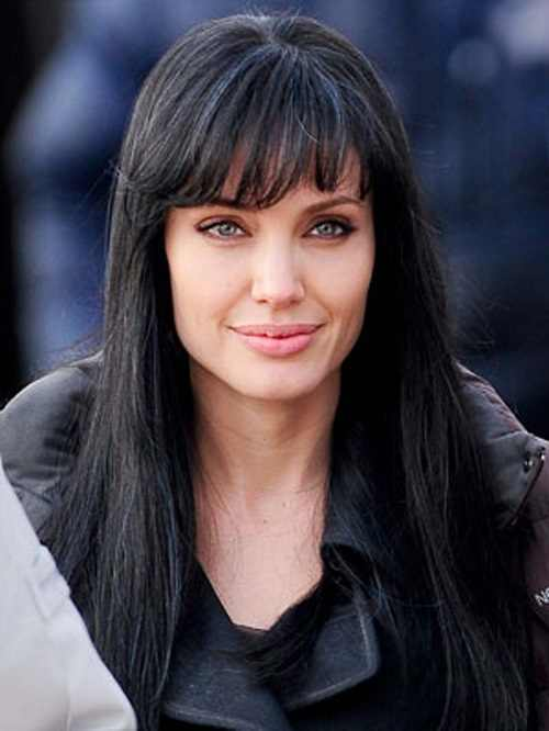 Black hairstyles with blunt bangs