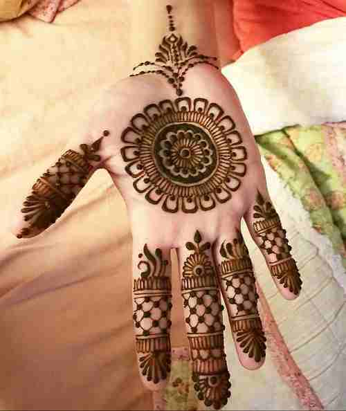 Henna Simple Circle Mehndi Designs