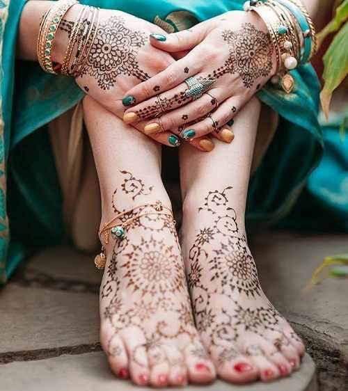 Intricate Rajasthani Mehndi Designs