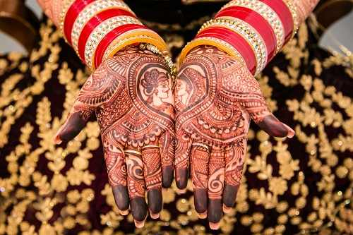 Raja-Rani Rajasthani Mehndi Design
