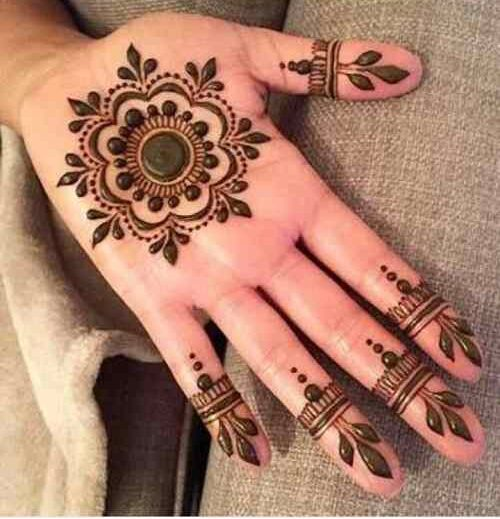 Tikki Pattern Circle Mehndi Designs