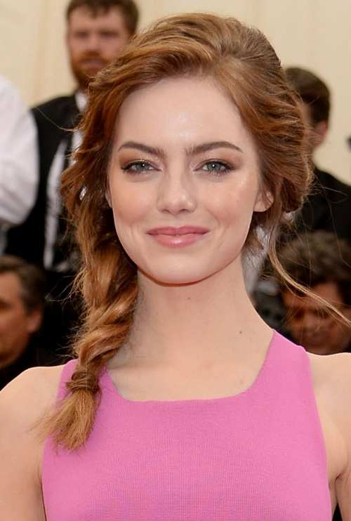 Tousled Side braid hairstyle