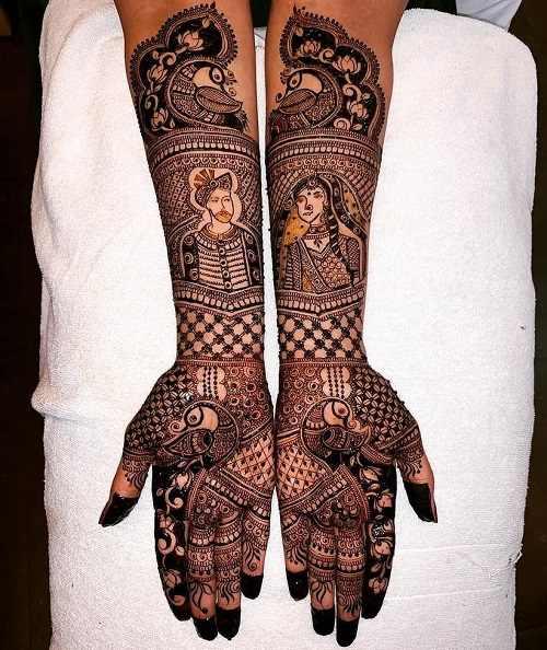 glamorous Mughal era.s Rajasthani Mehndi Designs