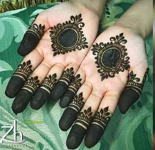 simple Circle Mehndi Designs