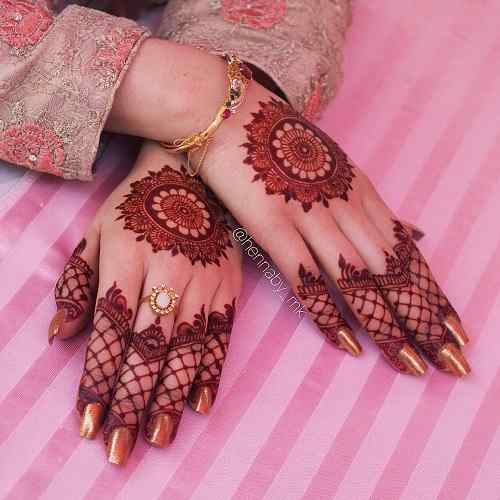tikki Bridal Mehndi Designs