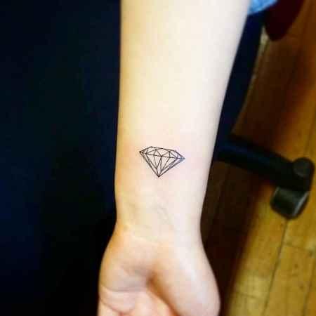 Diamond Tattoo on Wrist