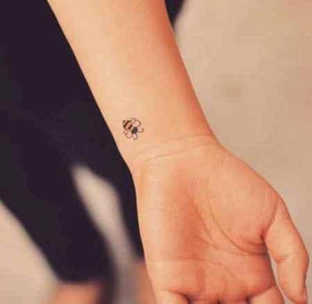 Tiny Bee Tattoo Design