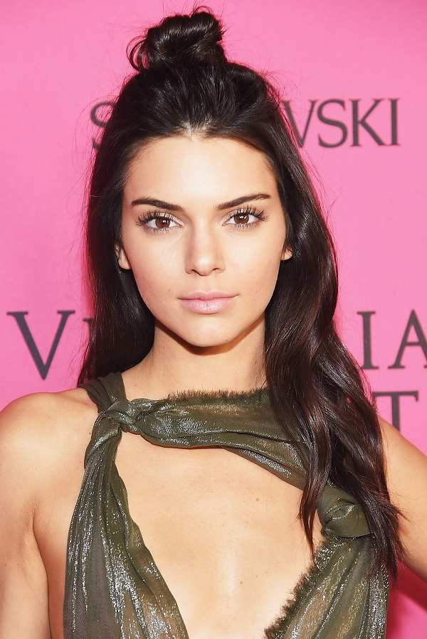 Kendall Jenner Long hair with top knot