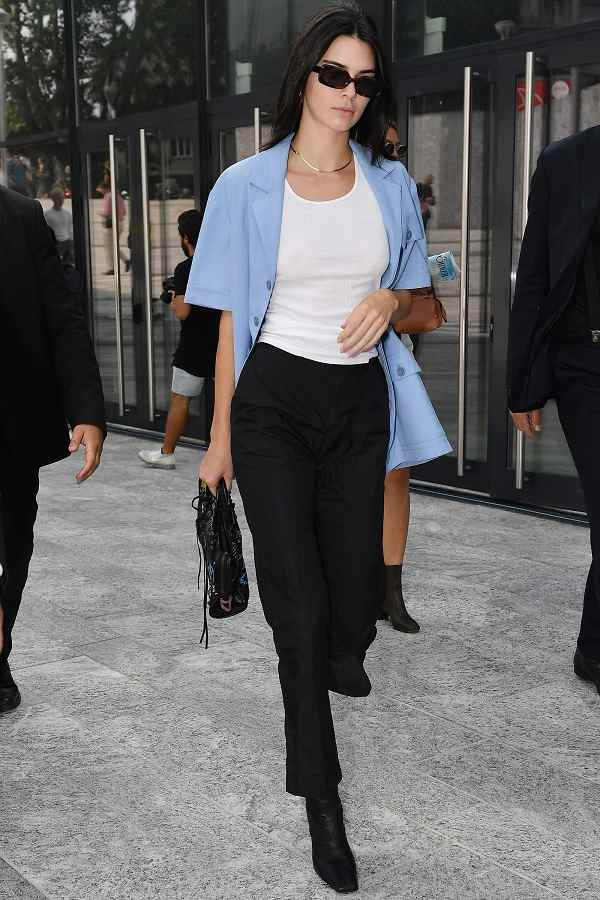kendall jenner black outfit casual