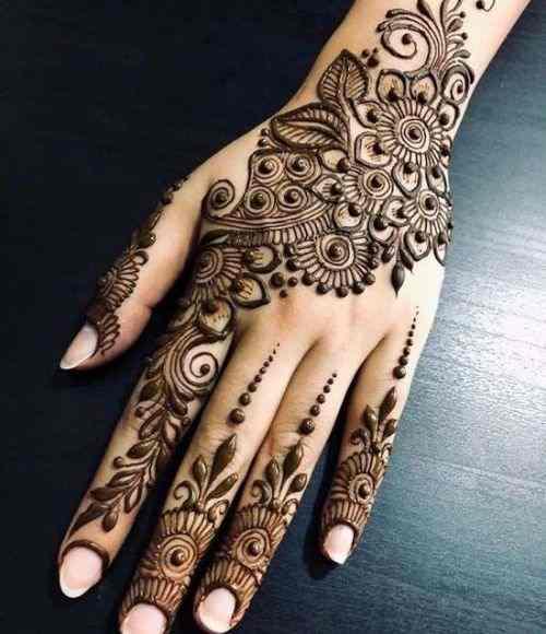 Floral Back Hand Mehndi Designs