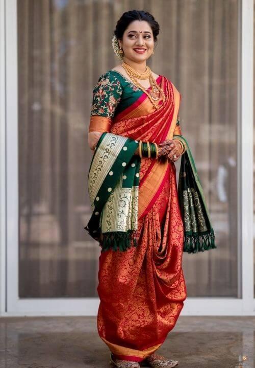 Maharashtrian Silk Nauvari Saree