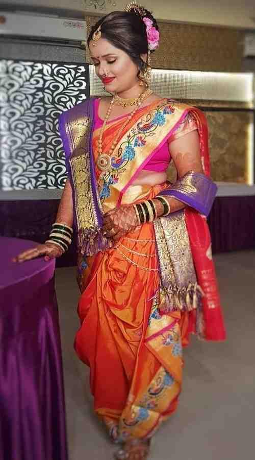 Naruvari Kasta Style in Bride